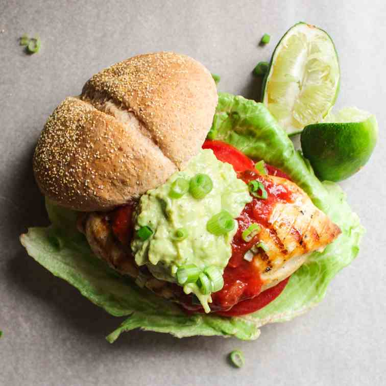 Grilled Mexican Chicken Sandwich