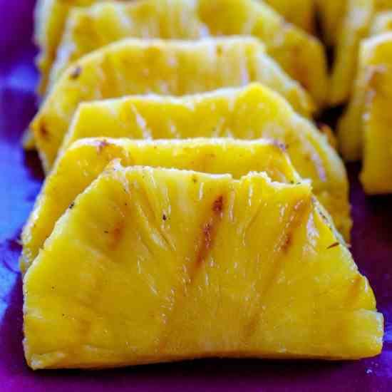 Grilled Pineapple with Brown Sugar - Honey