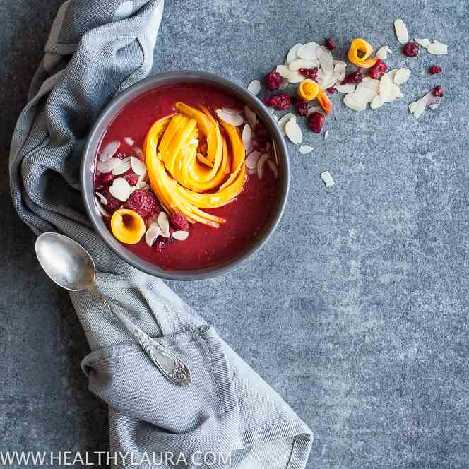 Mango Raspberry Smoothie Bowl