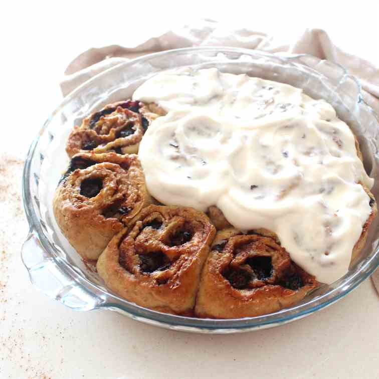 Sugar Free Lemon Blueberry Cinnamon Buns