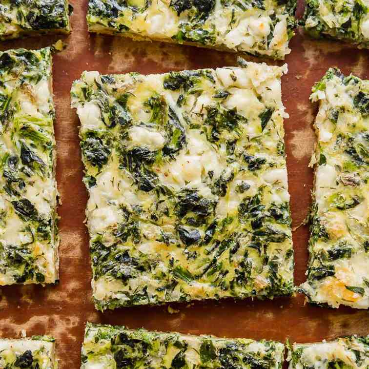 Spinach and Feta Breakfast Puff Pastry Piz