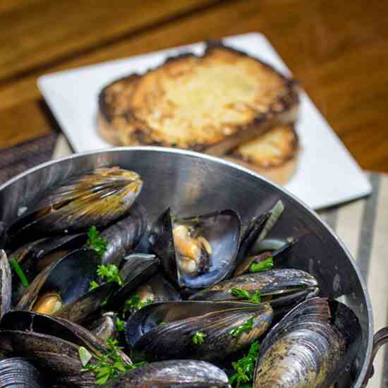 Moules Mariniere - Taking the Bait!