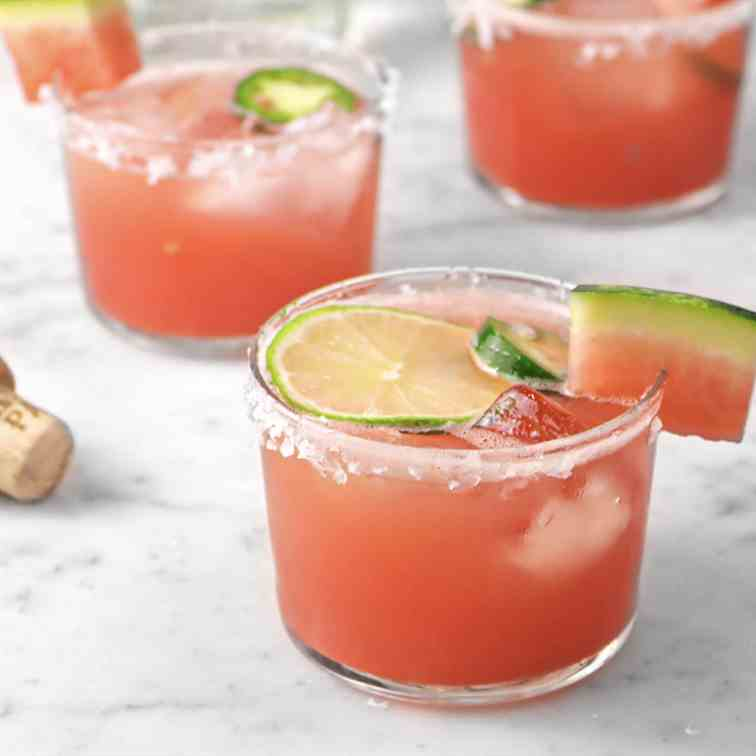 Watermelon Lime Jalapeno Margarita