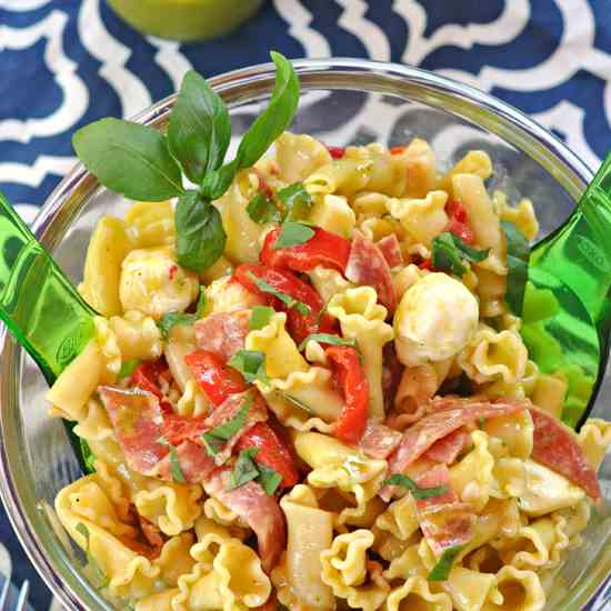 Pasta Salad with Basil Dressing