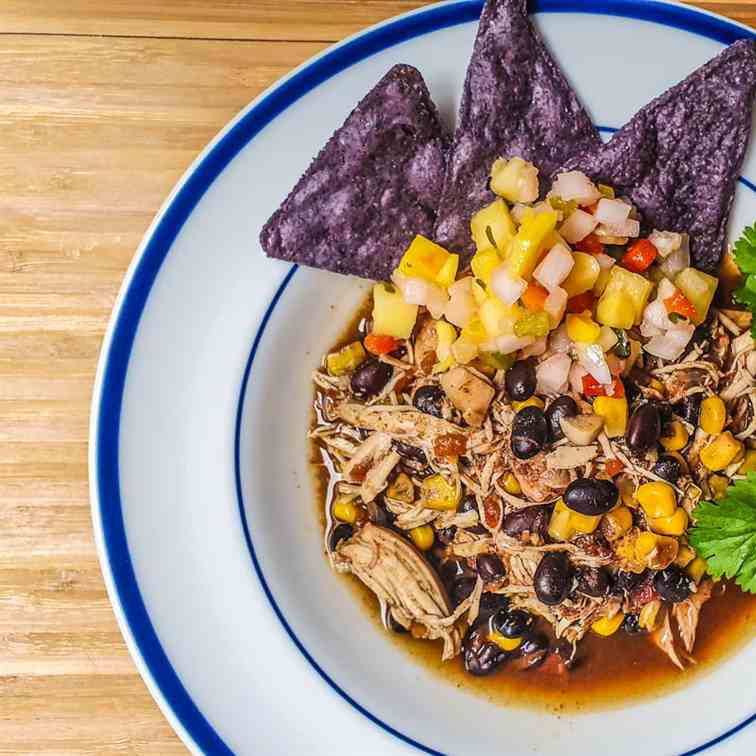 Southwest Chicken Chili With Black Beans