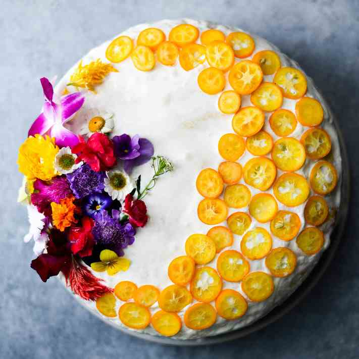 Tres Leches with Cardamom and Kumquats