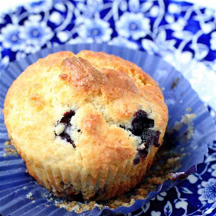 Blueberry Lemon Ricotta Muffins