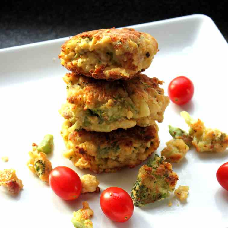 Cauliflower-Broccoli Patties