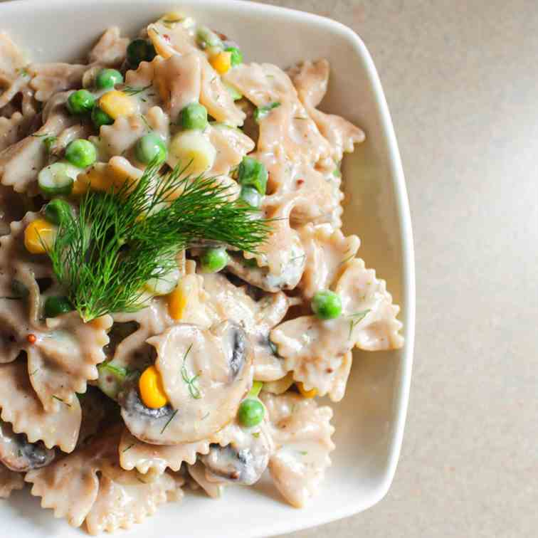 Creamy Pasta Primavera with Fresh Dill