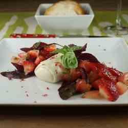 Burrata Tomato and Strawberry Salad