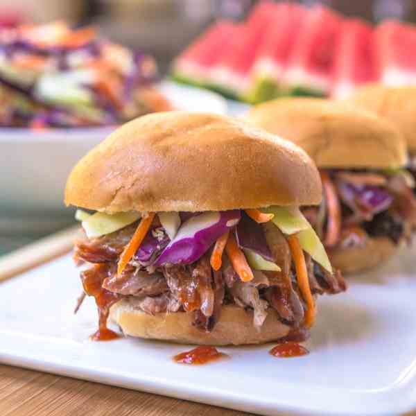 Pull Pork Sliders with Ranch Coleslaw