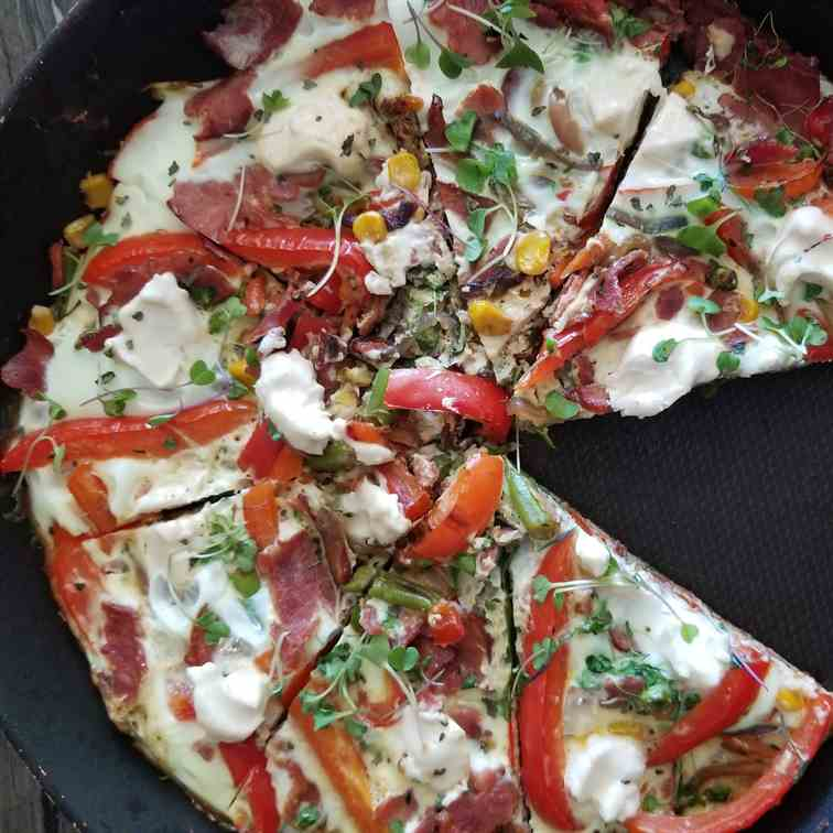 Turkey Bacon Egg White Frittata