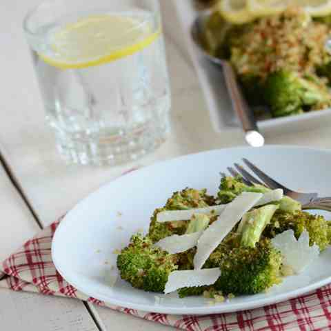 Italian Dressing-Inspired Roasted Broccoli