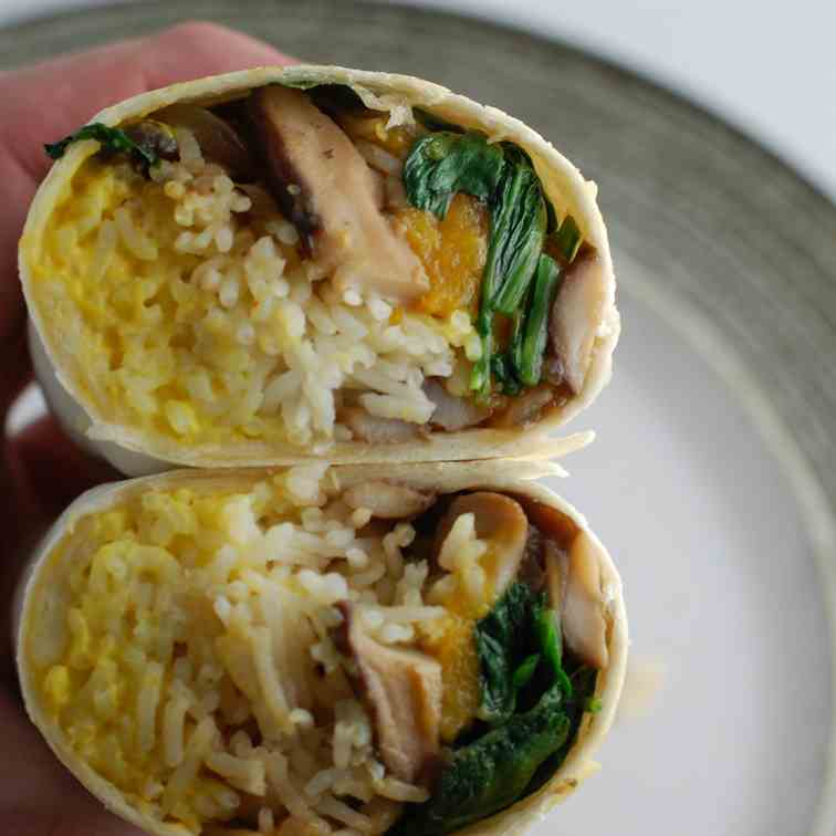 Butternut Burrito from Fall Vegetable Left