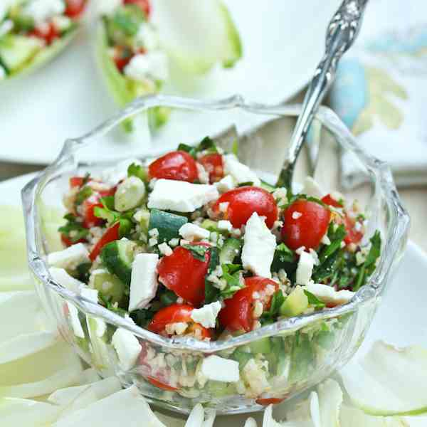 Tabouli Salad with Feta and Endive