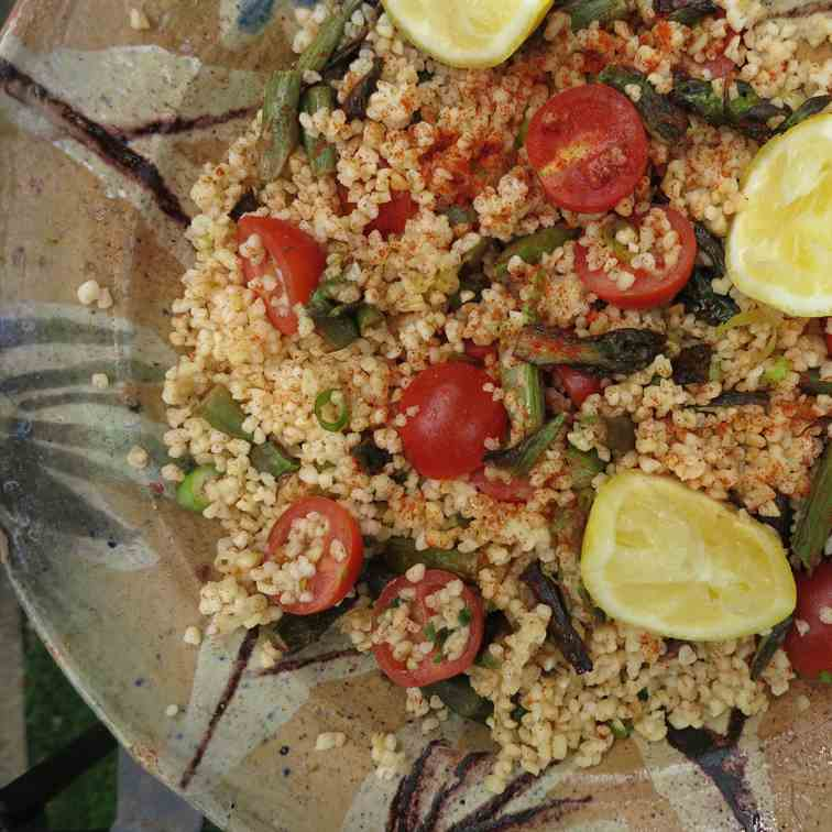 Asparagus and Bulgur Wheat Salad