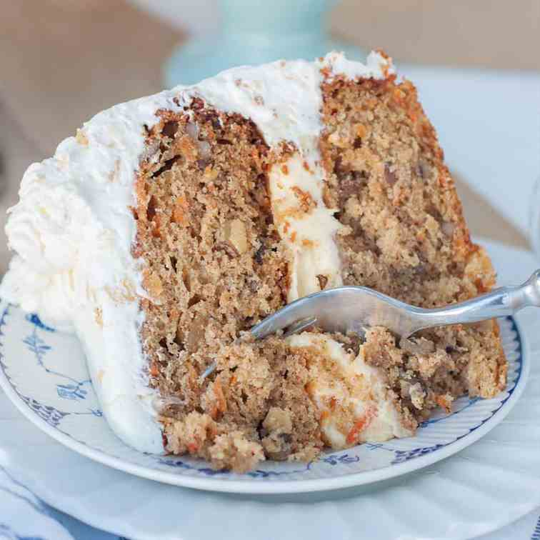 Carrot Cake w Pineapple Whipped Cream
