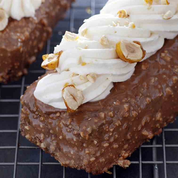 Honey Cake with  Ferrero Rocher Frosting