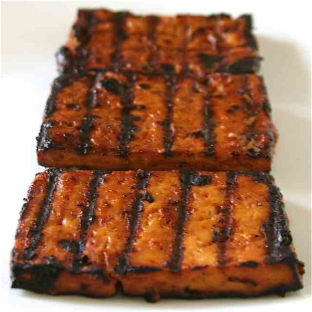 Beer Barbecue Marinated Tofu