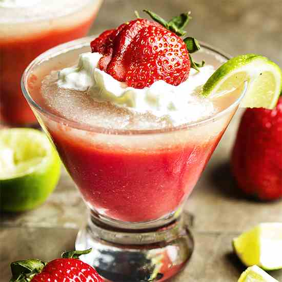 Frozen Strawberry Lime Daiquiri