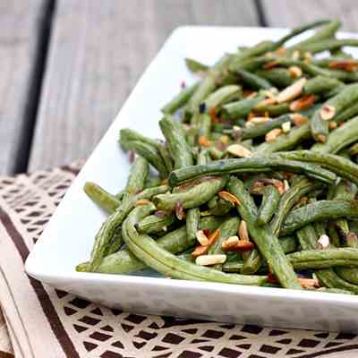 Roasted Garlic and Lemon Green Beans