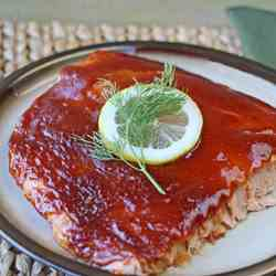 Baked Barbecue Salmon