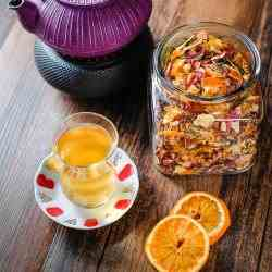Rose, Citrus, Berry and Apple Homemade Tea