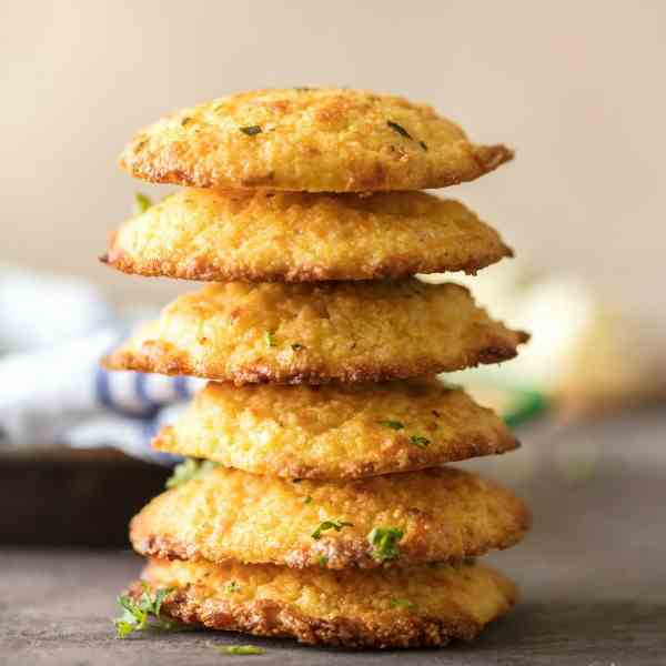 Garlic Cornbread Drop Biscuits