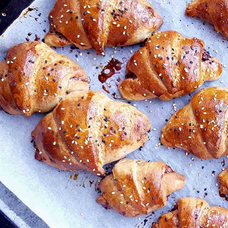 Whole wheat croissants