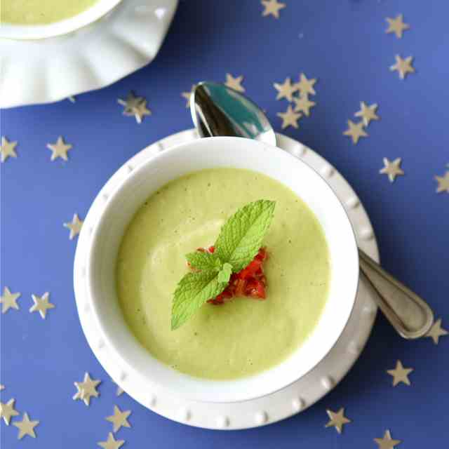 Chilled Avocado Soup with Coconut Milk