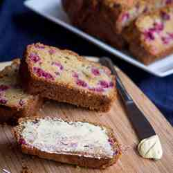 Healthy Wholemeal Raspberry Loaf