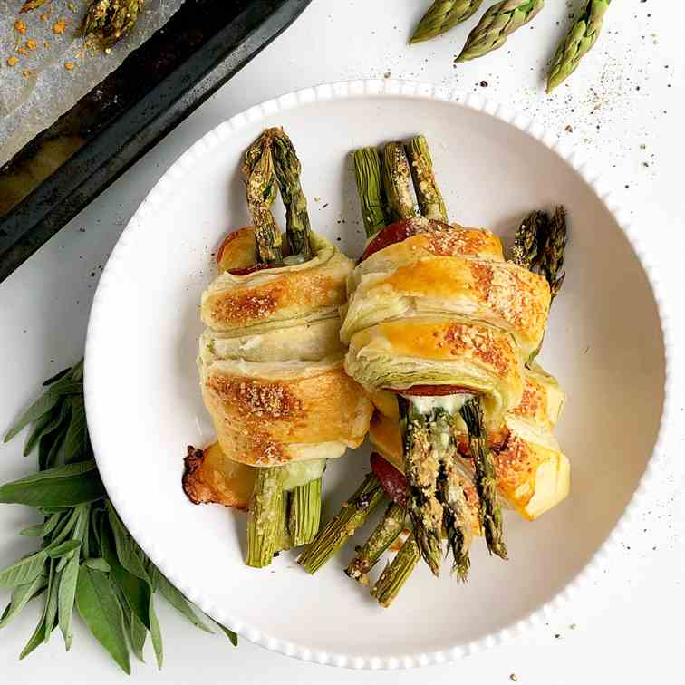 Asparagus Puff Pastry Rolls
