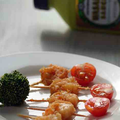 Shrimp on toothpick