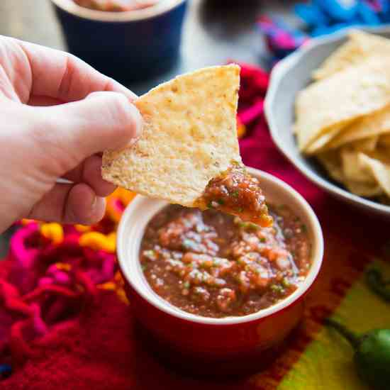 Easy Mexican Restaurant-Style Salsa