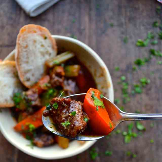 BEEF STEW WITH LEMON GREMOLATA