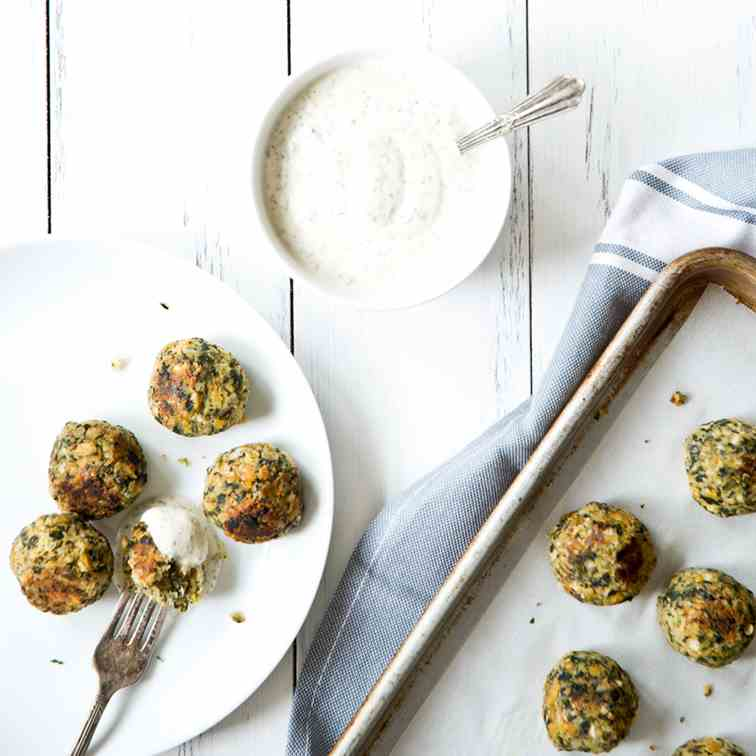 Chickpea Spinach Nuggets vegan-gluten-free