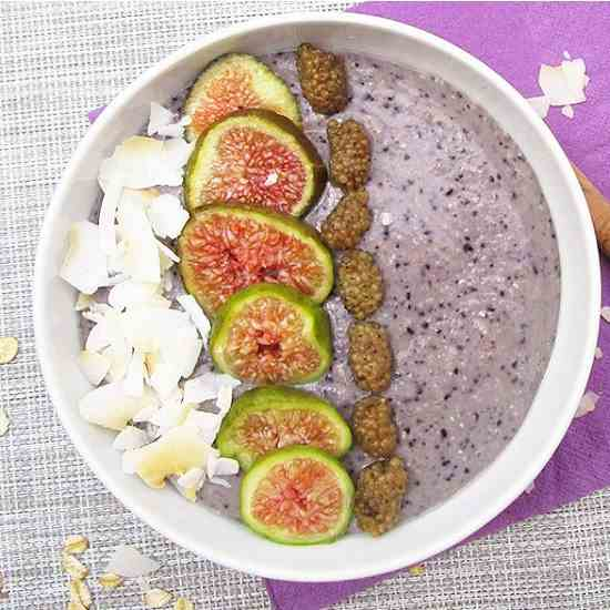 Vegan Cauliflower Blueberry Smoothie Bowl