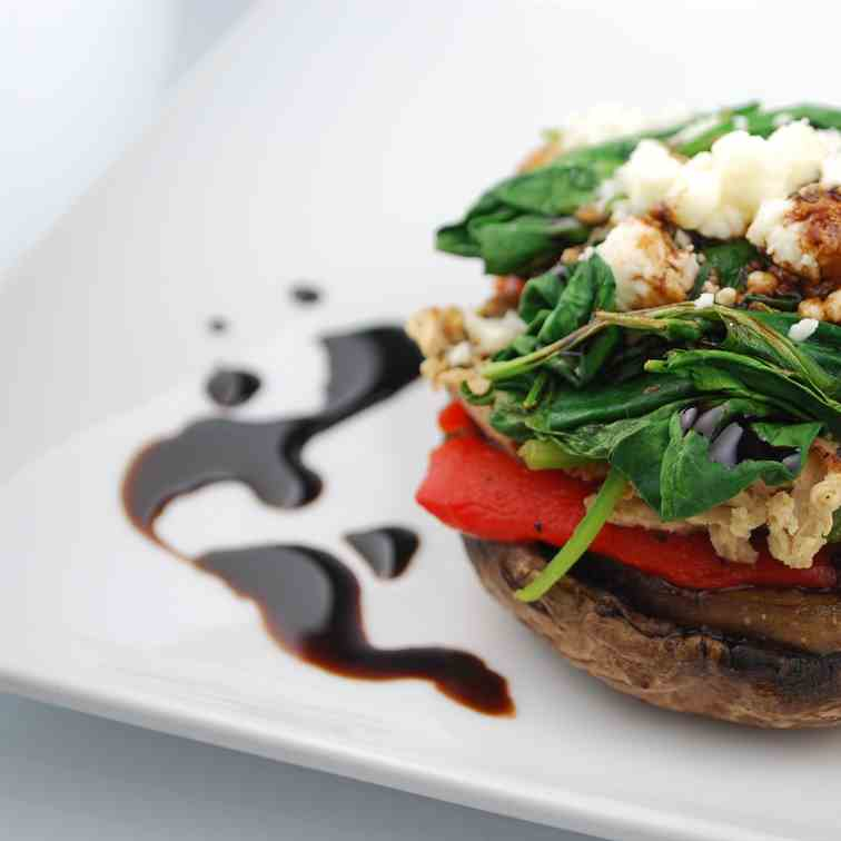Vegetarian Stack with Balsamic Reduction