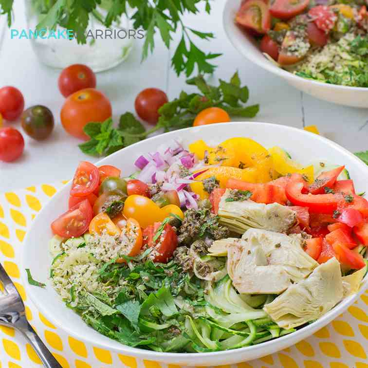 Greek Zoodle Bowl