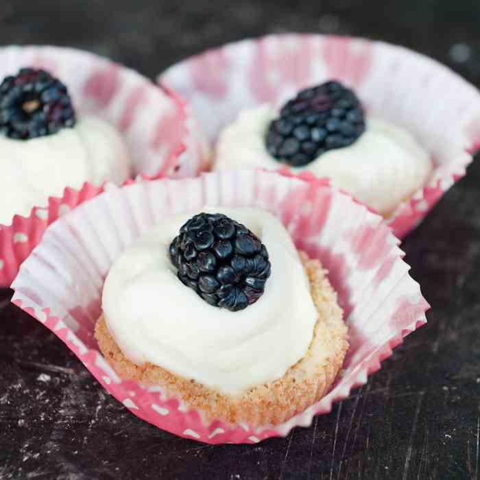 Blackberries and Cream Tartlets