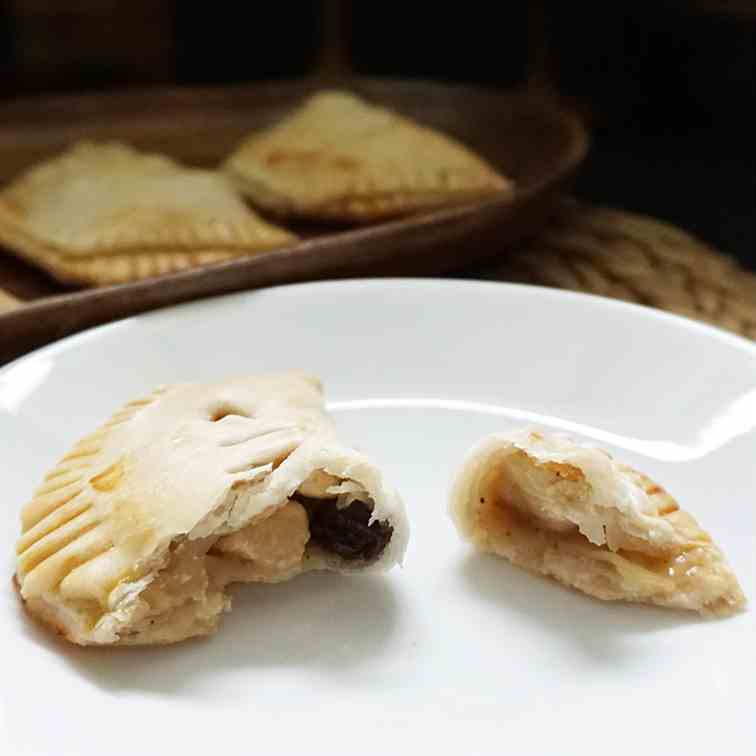 Rustic honeyed chicken hand pies