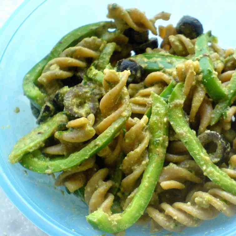 Basil Walnut Pesto Pasta
