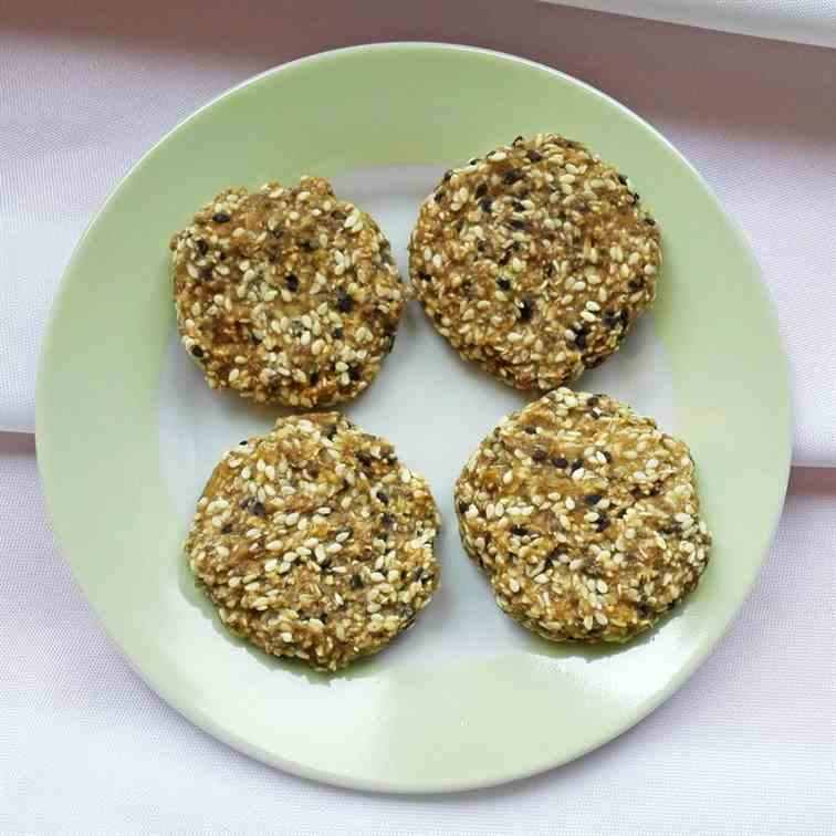 Simple 2-ingredient Chia Cookies