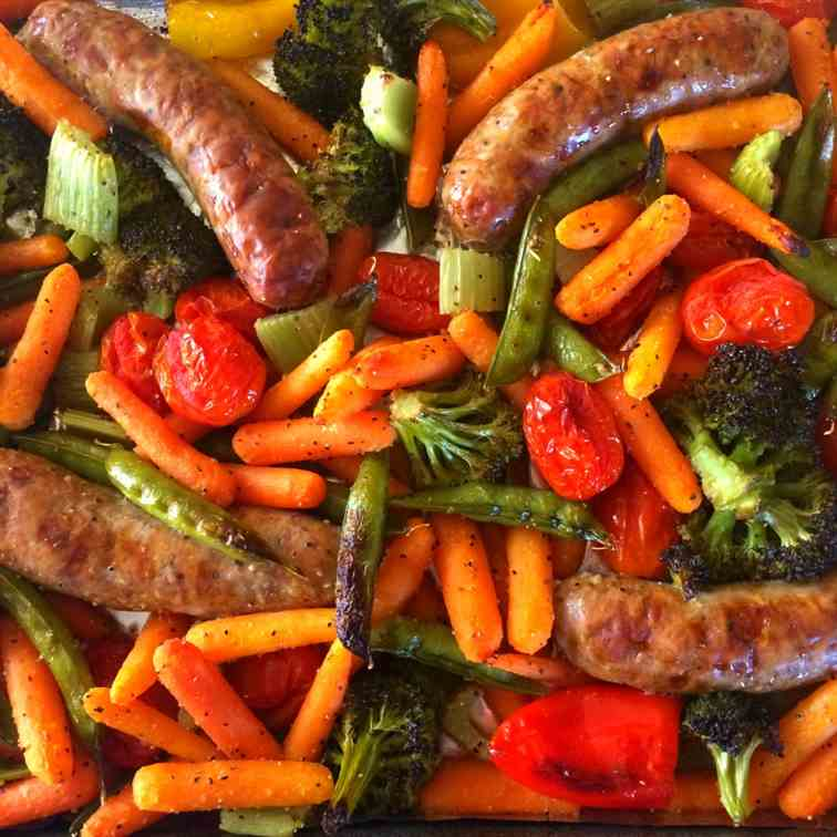 4-Ingredient Vegetable Sheet Pan Dinner