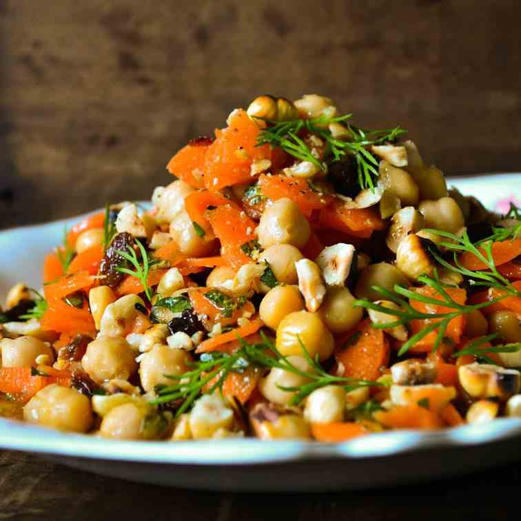 Moroccan Feast Chickpea and Carrot Salad