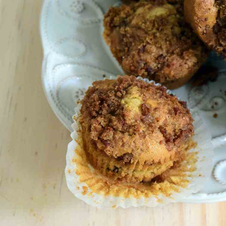 Maple Bacon Muffins with Brown Sugar-Bacon