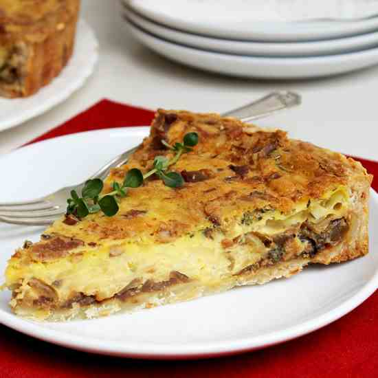 onion and swiss cheese quiche