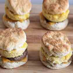 Sausage Egg & Cheese Biscuits