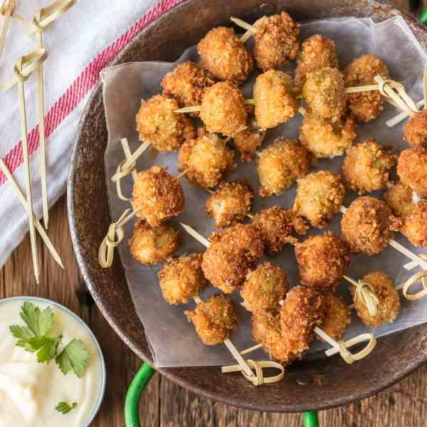 Fried Blue Cheese Stuffed Olives