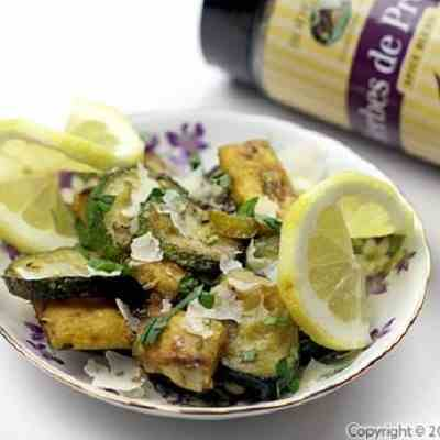 Zucchini with Parmesan and Croutons